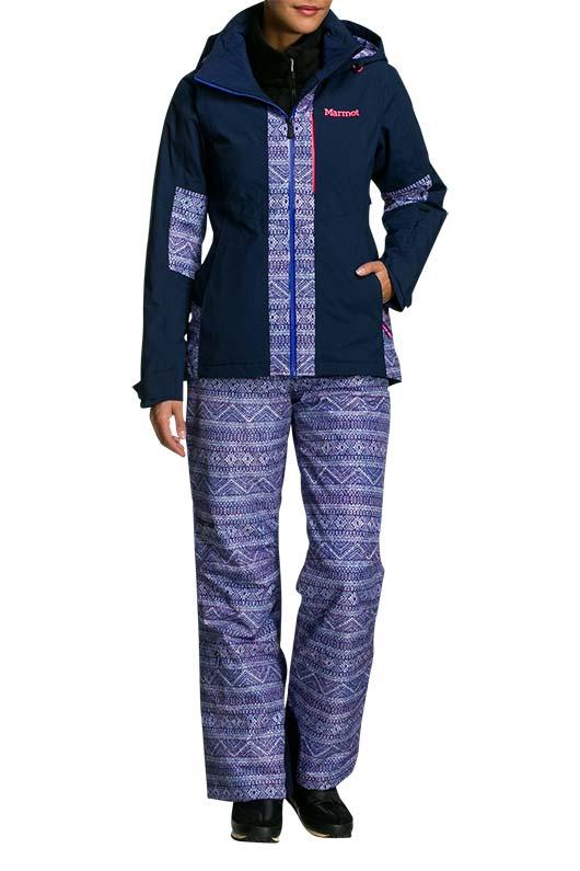 Marmot Tessan Damen Skijacke (blaugrau): : Sport