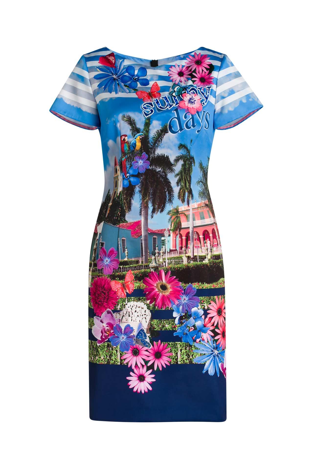 Kleid gemustert - MARC CAIN » günstig online kaufen ...